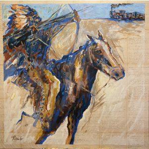 Brave Shooting Iron Horse